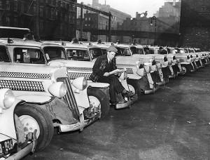 Забастовки работников такси в Нью-Йорке, 1940.