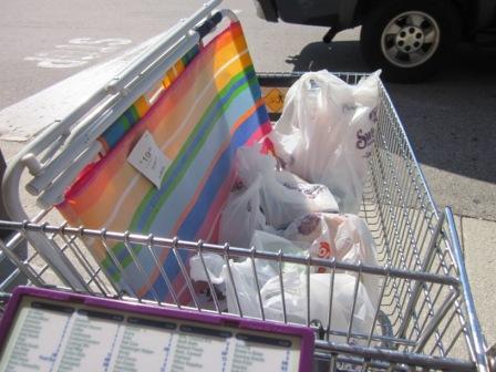 покупаем кое-какие продукты и пляжный стульчик... мы все-таки во флориде, пригодится